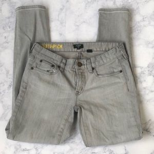 J Crew Toothpick Skinny Jeans Ankle length Grey 25